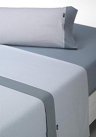 SABANALIA - Juego de sábanas Estampadas Mota (Disponible en Varios tamaños y Colores), Cama 135, Gris: Amazon.es: Hogar