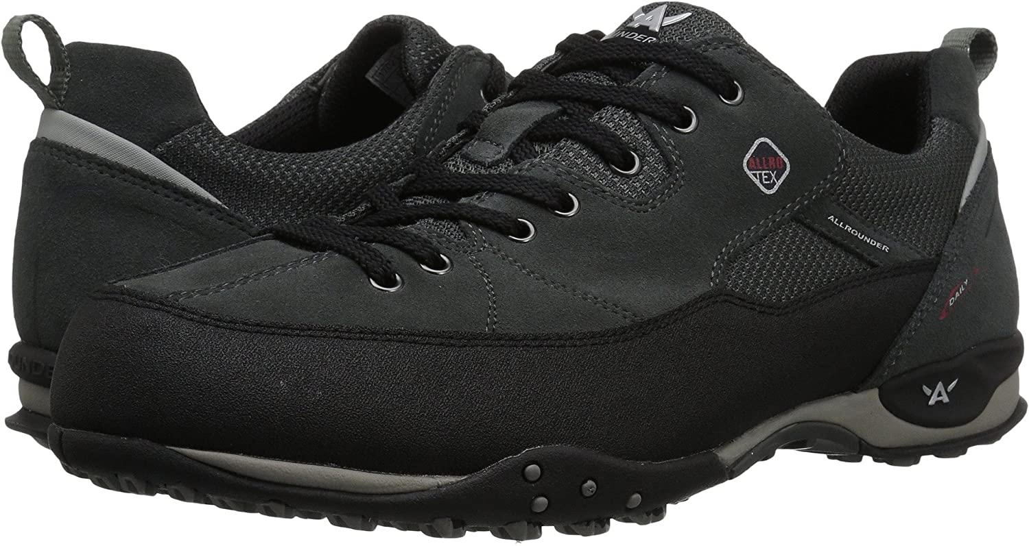 Allrounder by Mephisto Mens Tacco Tex Black Rubber/Ivy Suede