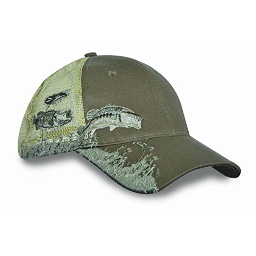 816de6ae2f4 KC Caps Unisex Hunting Fishing Cap Adjustable Embroidery Baseball Hat with  Air Mesh Back Velcro