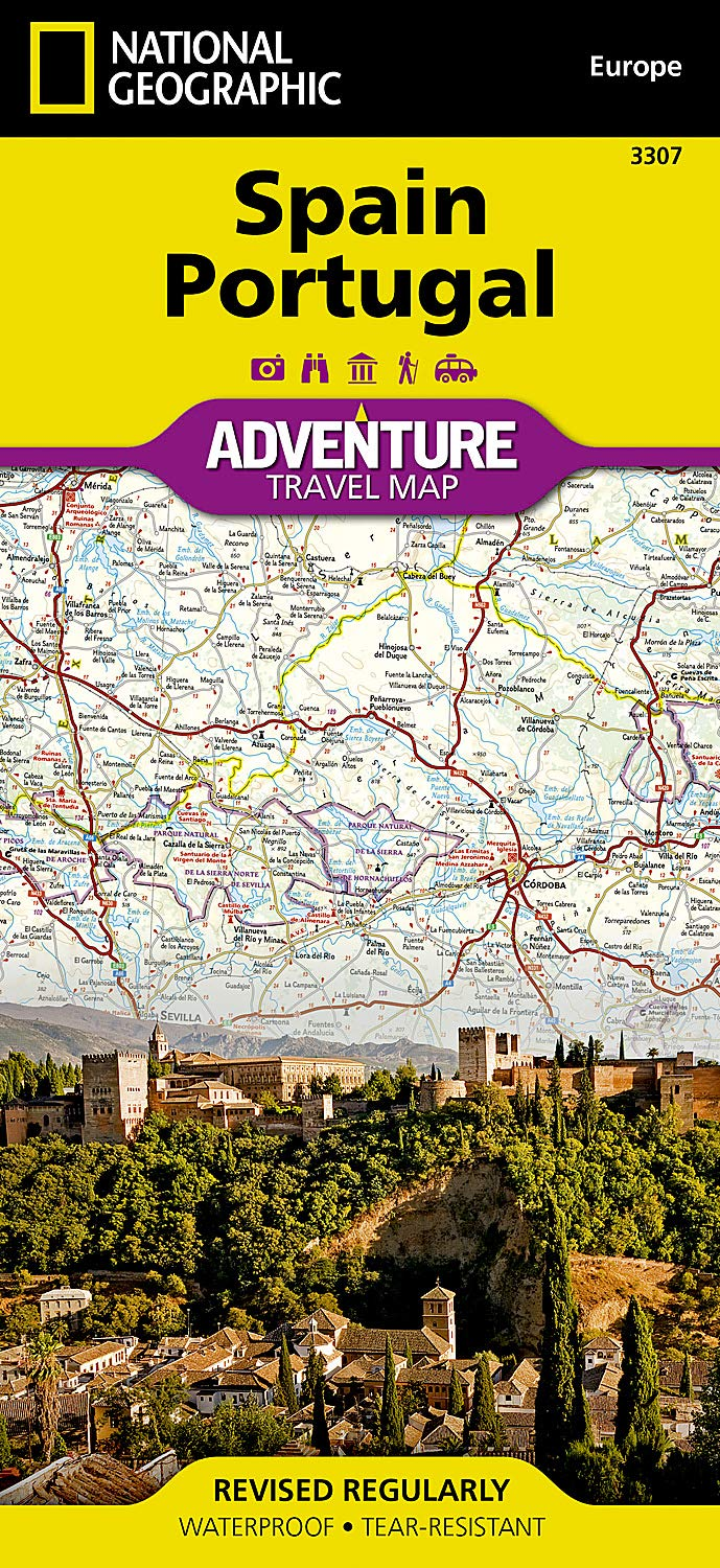 Map Of Portugal And Spain.Spain And Portugal National Geographic Adventure Map National