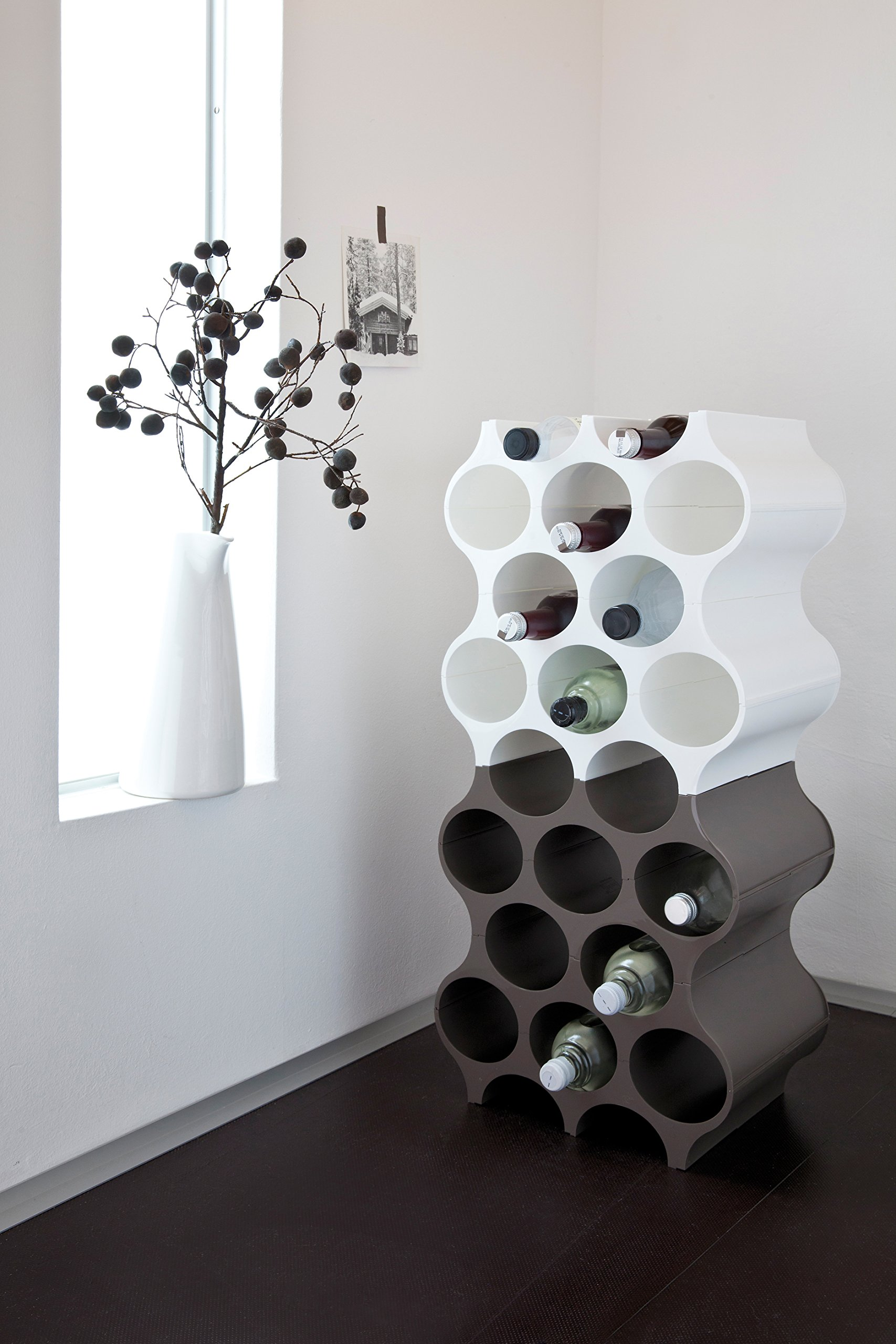 Koziol SET-UP Bottle Rack, Cosmos Black by Koziol (Image #3)