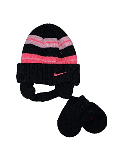 Amazon.com  Nike Girls Knit Hat and Mitten Set 12 24 Months  Sports    Outdoors 0f5bc55bb67d