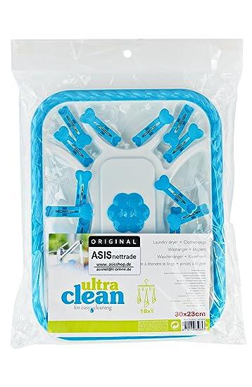 Tendedero Tendedero - 1 pieza - Azul - De plástico en forma angular - para prendas pequeñas: Amazon.es: Hogar