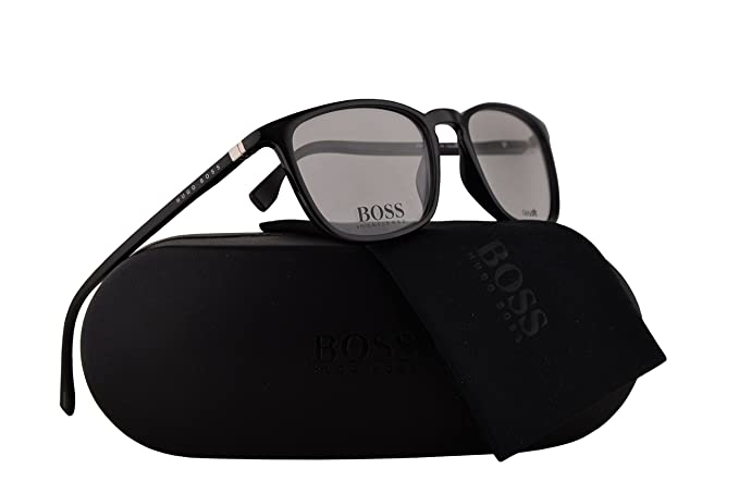 6d3a248d449 Amazon.com  Hugo Boss 0961 Eyeglasses 51-18-145 Black w Demo Clear Lens 807   Clothing