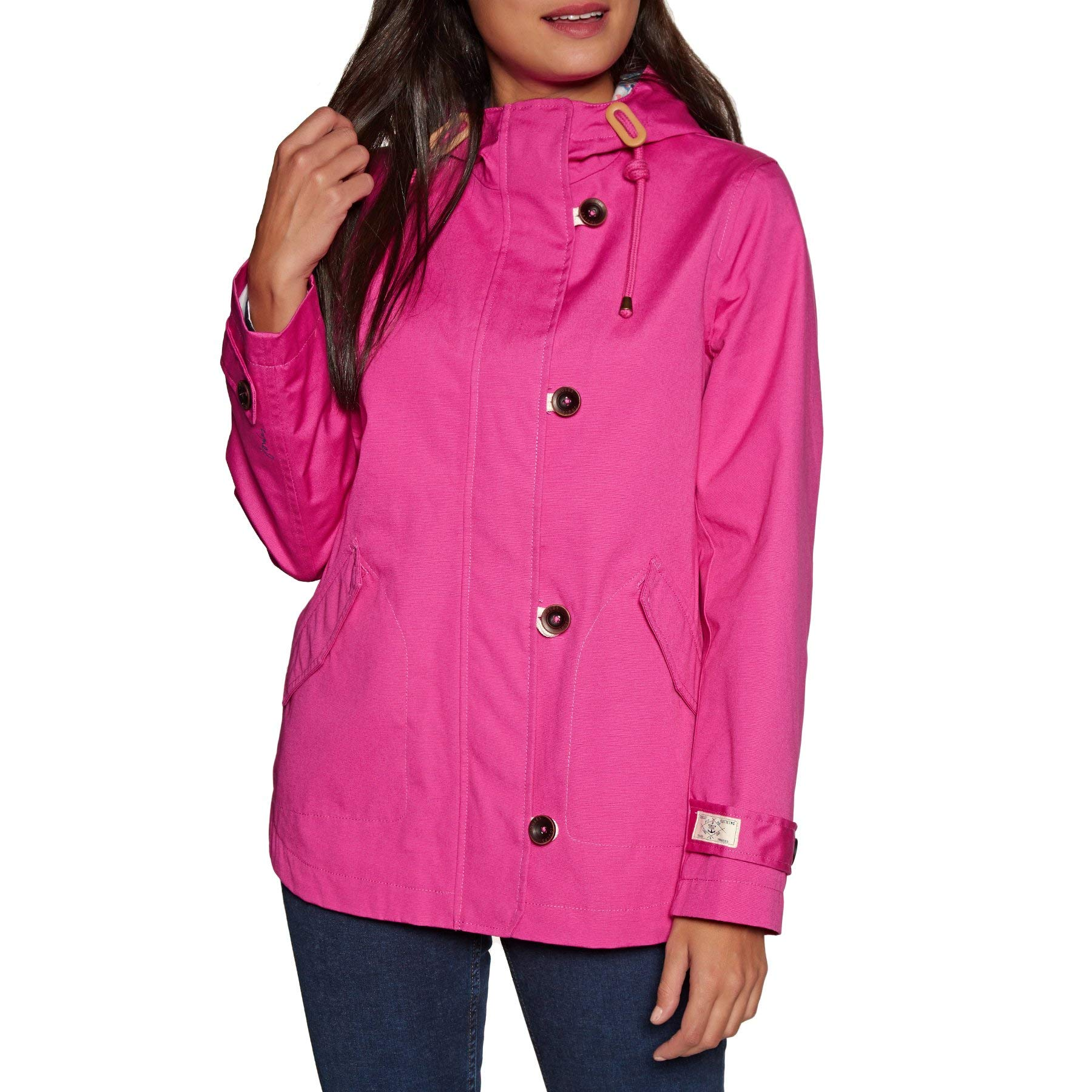 Joules, Coasted Hooded Jacket, Pink, 4