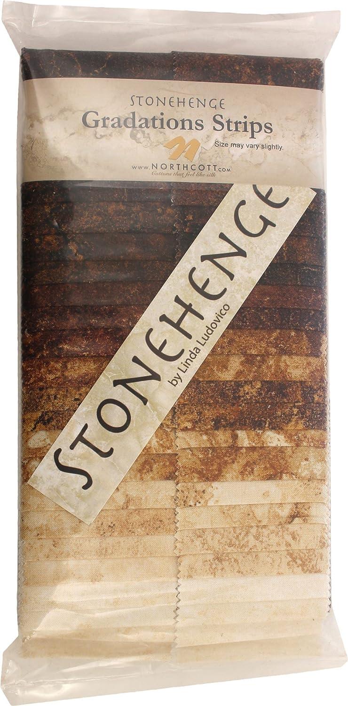 Northcott ストーンヘンジグラデーション鉄鉱石の石は40 2.5インチはジェリーロールストリップストリップ   B07629B886