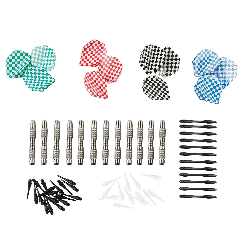 Ultrasport Juego de dardos suaves, set compuesto por dardos suaves, barriles de aluminio, cañas de plástico, plumas y puntas 380100000369