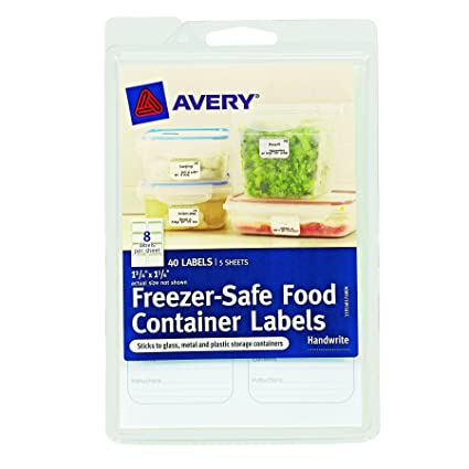 Avery Freezer-Safe Food Container Labels 1.25 x 1.75-Inches Pack of  sc 1 st  Amazon.com & Amazon.com : Avery Freezer-Safe Food Container Labels 1.25 x 1.75 ...