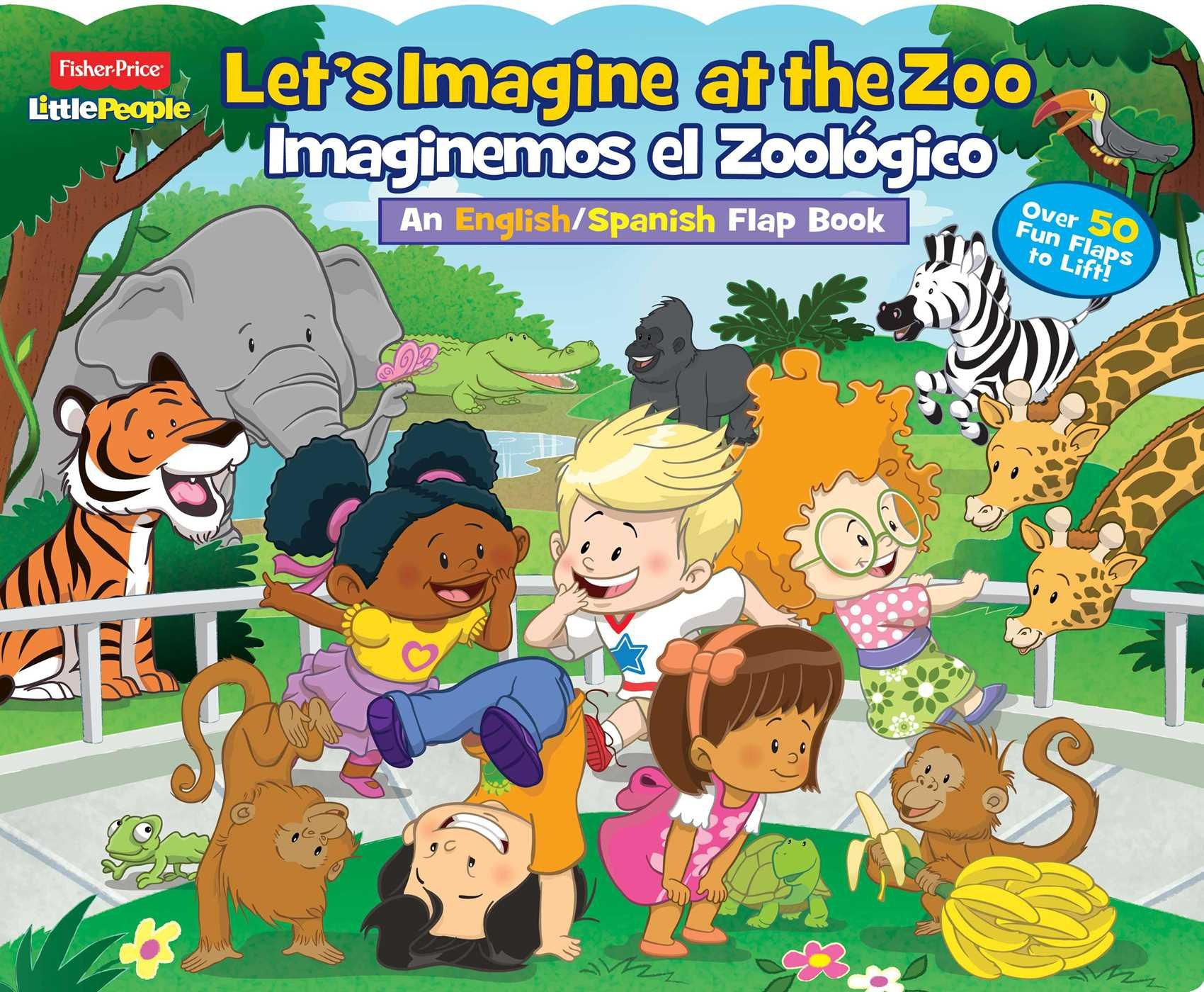 Download Fisher-Price Little People: Let's Imagine at the Zoo/Imaginemos el Zoológico (Lift-the-Flap) ebook