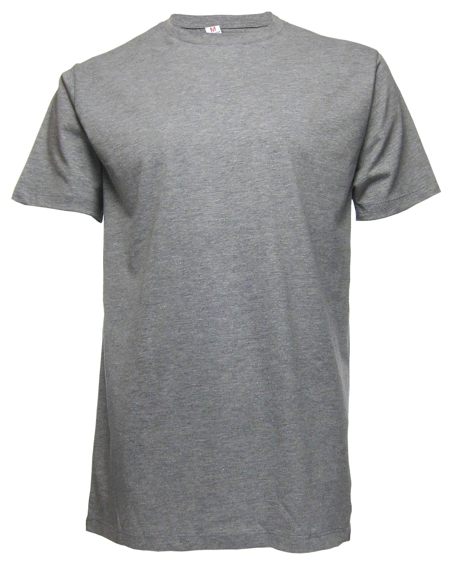 King's Love Men's Lightweight Solid Crew Neck Short Sleeve Premium Ringspun Cotton Blend EcoSafe Blank T-Shirt (Large, Heather Grey)