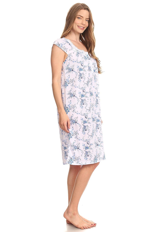 0077 Women Night Gowns Sleep Shirts Pajamas at Amazon Women s Clothing  store  b93c36442