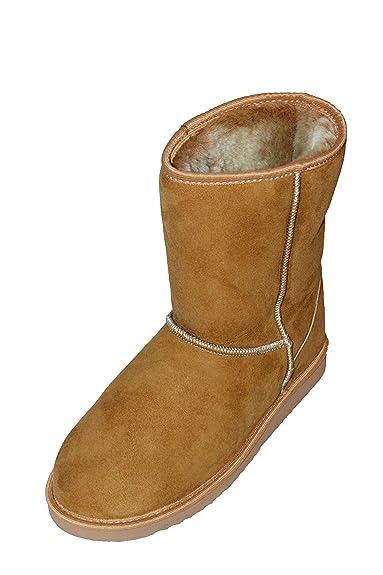 hot sale online 0ac85 a9f51 Karbaro Lammfellstiefel braun: Amazon.de: Schuhe & Handtaschen