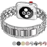 NO1seller Top Stainless Steel Cowboy Style Apple Watch Band for Apple Watch Series 3, Series 2, Series 1