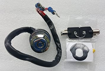 Universal Ignition Switch with Round Key Harley Ignition Switch 3-Position on