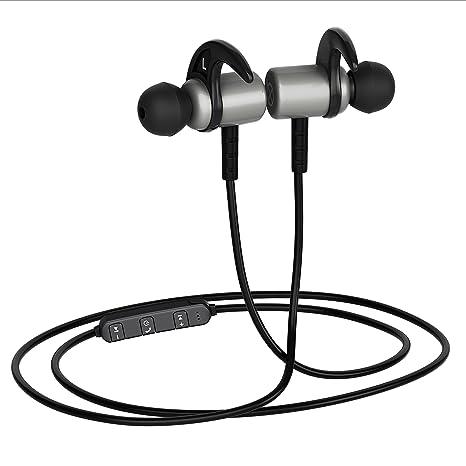 ca29bbbdd32 BasX Bluetooth Earphones with Mic Grey Metal Earbuds: Amazon.in: Electronics
