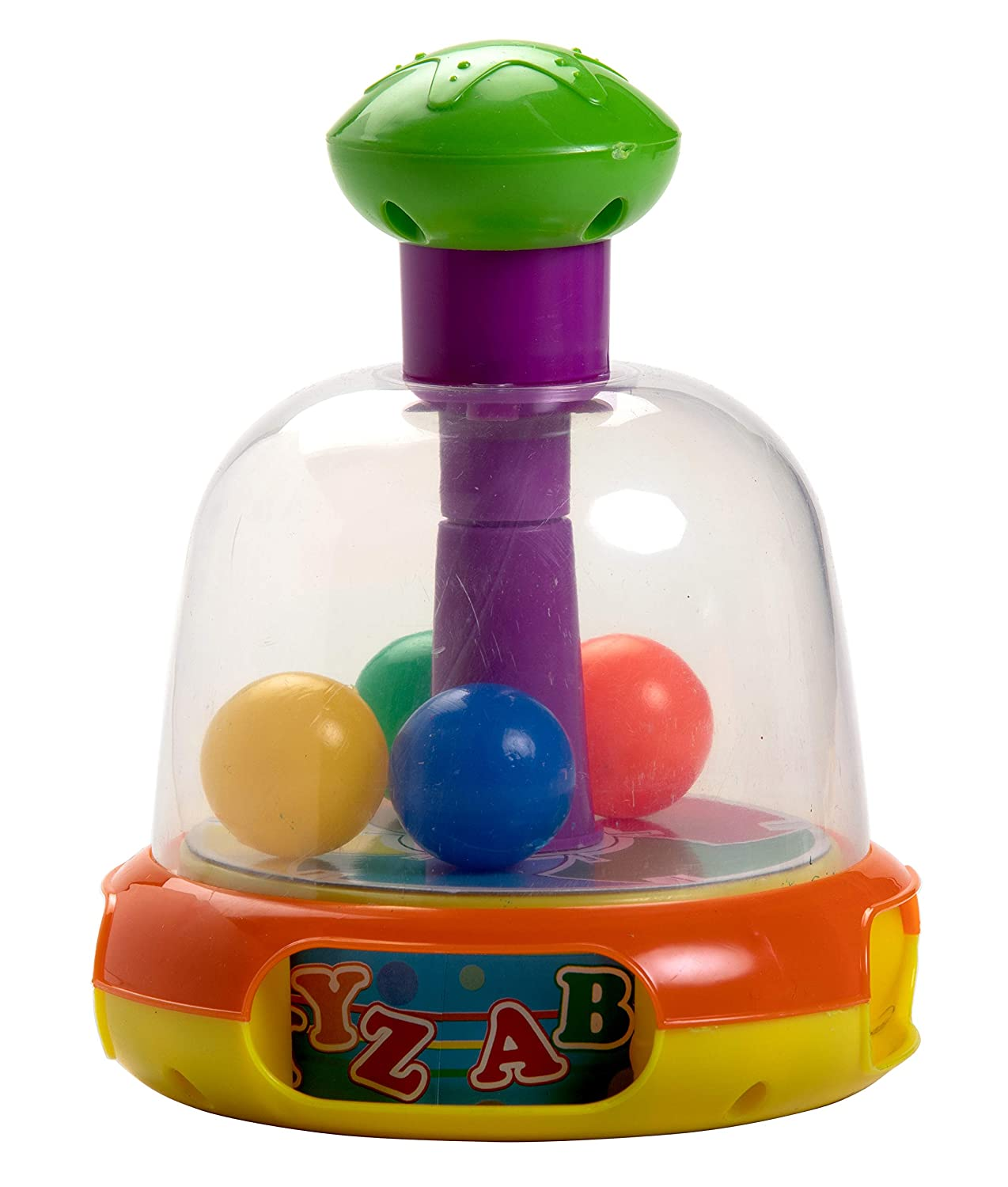 Luvlap Colorful Push and Spin Fun Rattle Toy for Baby
