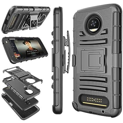 Amazon.com: Moto Z2 Play Case, Motorola Z2 Play Clip, tekcoo ...