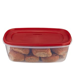 Rubbermaid Easy Find Lids Food Storage Container, 2.5 Gallon, Racer Red 1777164