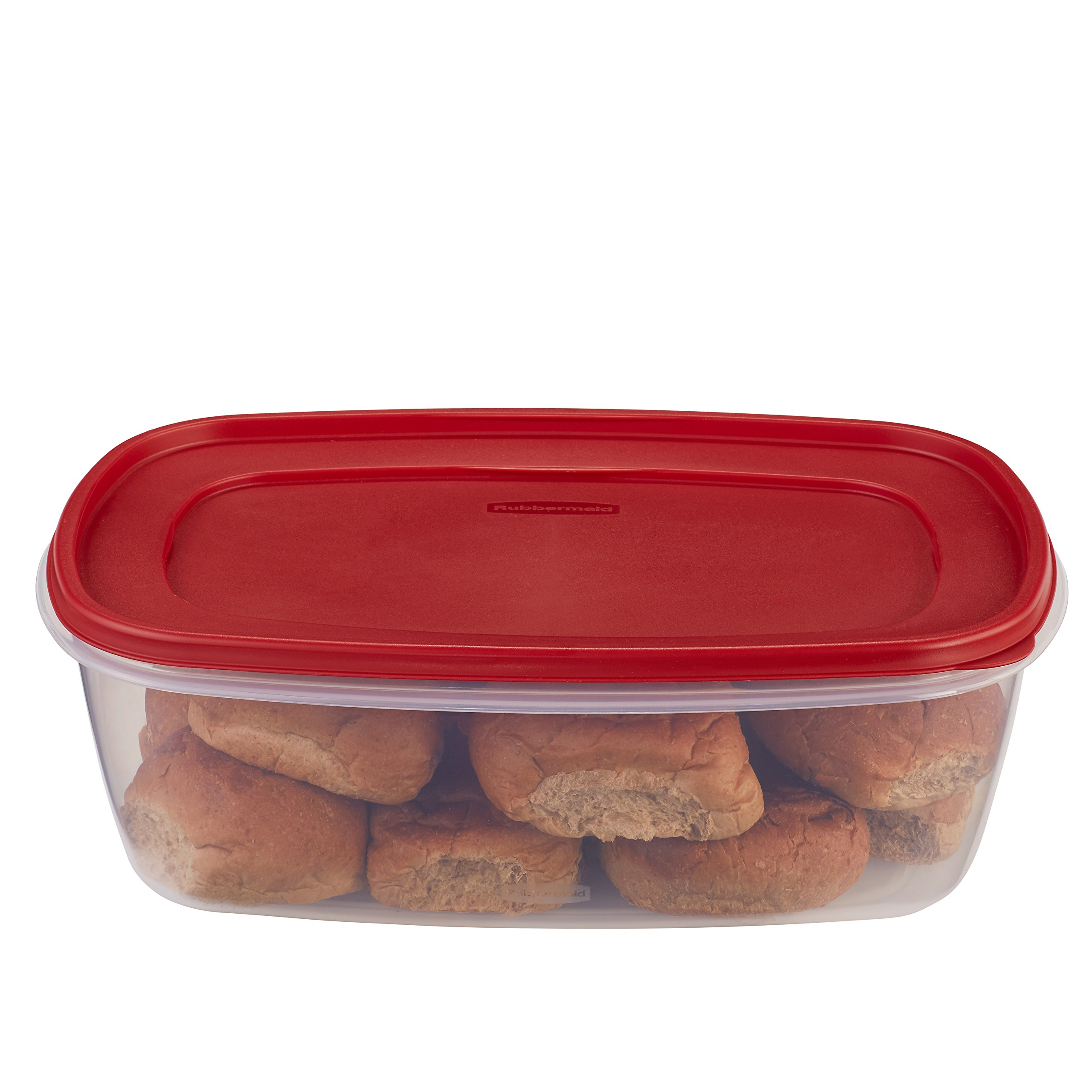 Rubbermaid Easy Find Lids Food Storage Container, 2.5 Gallon, Racer Red