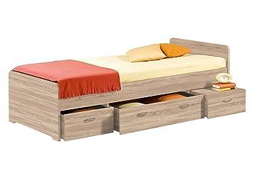 Stella Trading Boro Bett 90 X 200 Cm Eiche Sonoma Amazon De Kuche