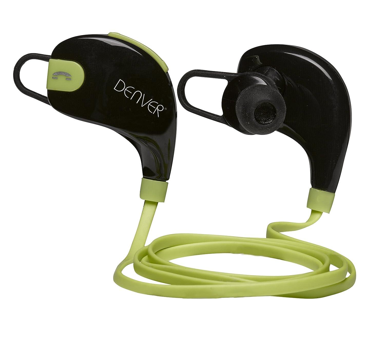 Denver BTE-100 Dentro de oído Binaurale Inalámbrico Negro, Verde: Amazon.es: Electrónica