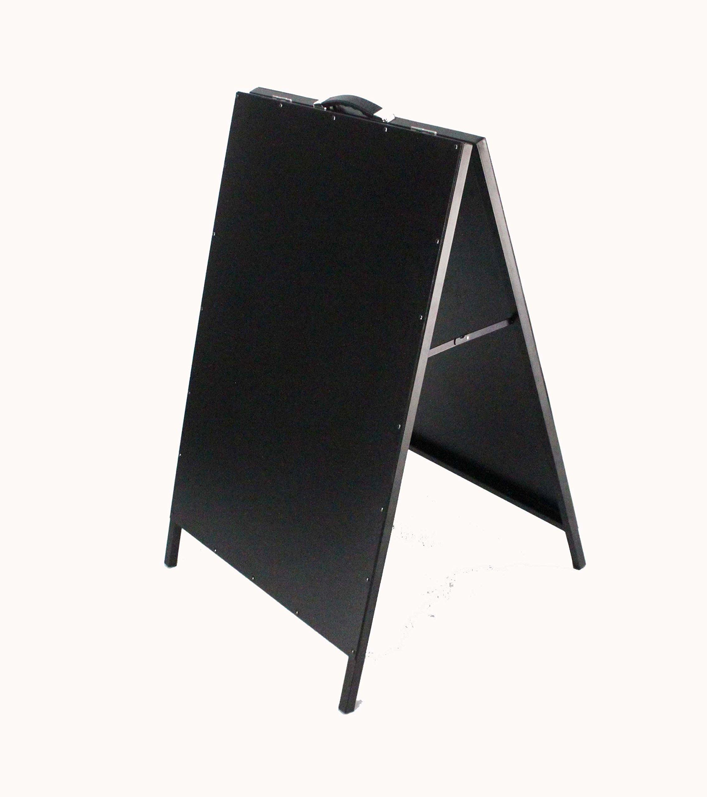 FixtureDisplays Black Board, A-Frame Menu Metal Side Walk Sign Restaurant Sign 15619