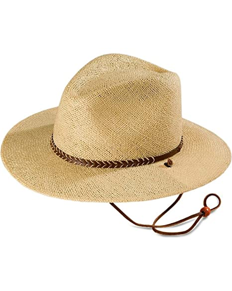Amazon.com  Stetson Men s Lakeland Uv Protection Straw Hat Natural L X   Clothing 9c2dcbecd955