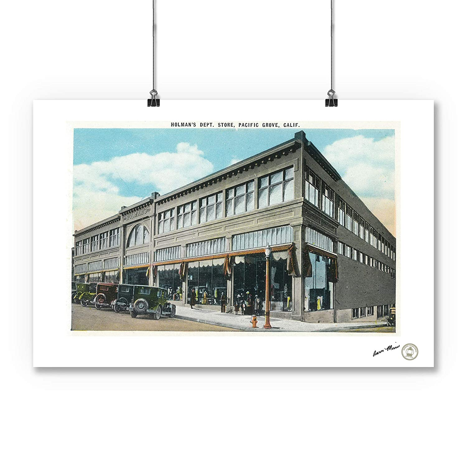 21f125cd3732 Pacific Grove, California - Exterior View of Holman's Department Store  (16x24 SIGNED Print Master Giclee Print w/Certificate of Authenticity -  Wall ...