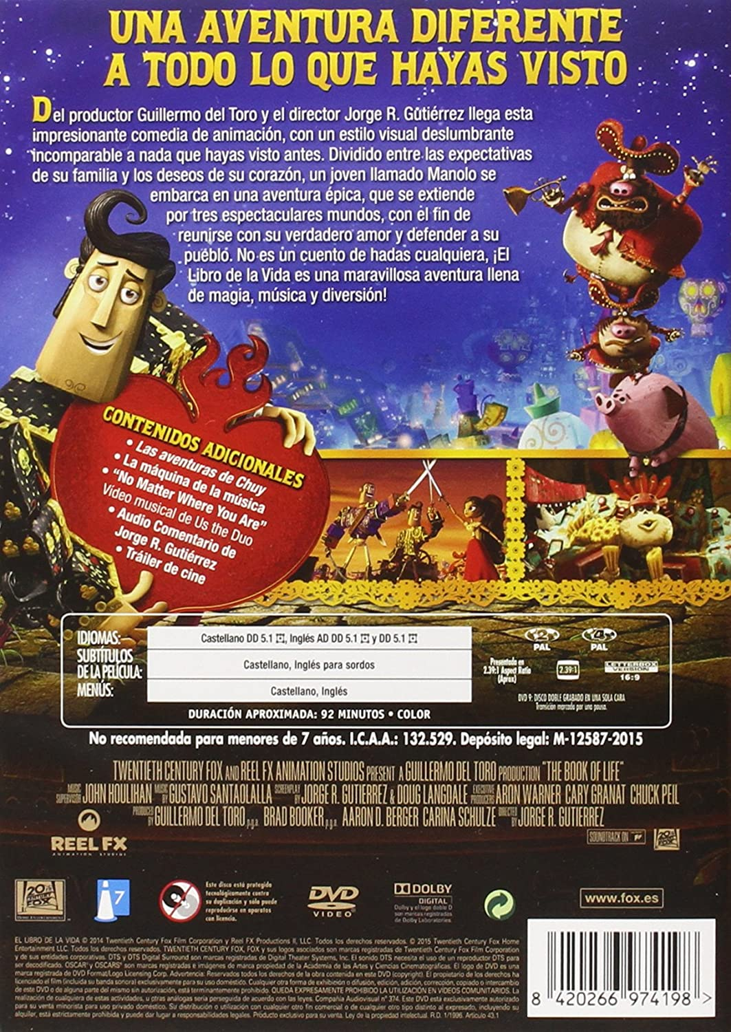 El Libro De La Vida [DVD]: Amazon.es: Animación, Jorge R ...