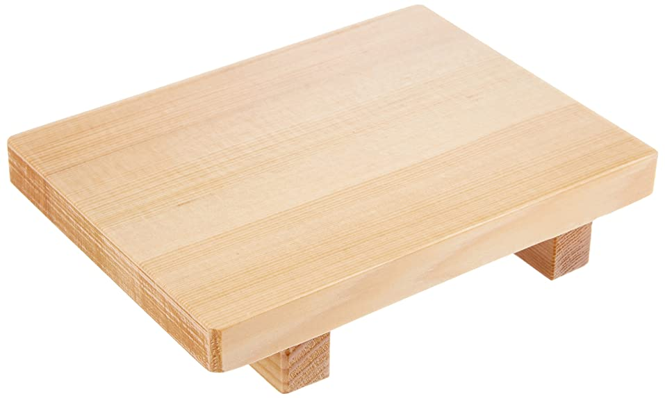 骨折外交官何よりも市原木工所 盛り付け台 木製 刺身やお寿司の盛り付けに 樹婦人 厚口 21×14×5.5cm