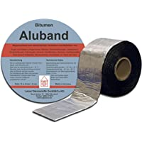 Bitumen Aluband reparatietape afdichtband kleur aluminium 100 mm - rol 10 meter. Gemaakt in Duitsland.