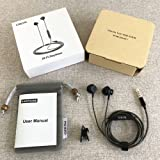 Earphones with Microphone and Volume Control Stereo In ear Headphones Earbuds with mic for iPhone iPod iPad Samsung and More Android Smartphones,3.9 Ft/Black