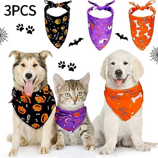 Free Shipping SET of 3 LARGE Ready to Ship Dog Bandana Pet Bandana Over the Collar