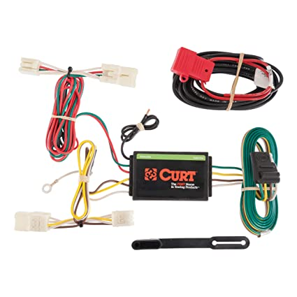amazon com: curt 56165 vehicle-side custom 4-pin trailer wiring harness for  select toyota rav4: automotive