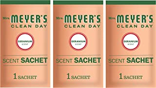 product image for Mrs. Meyer's Clean Day Air Freshening Scent Sachets, Fragrance for Lockers, Cars, and Closets, Geranium Scent, 3 ct