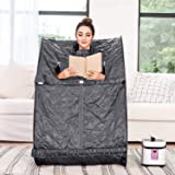 Tinfancy Portable Steam Sauna, 2L Personal Therapeutic Sauna for Full Body Weight Loss Detox Relaxation Slimming, One…