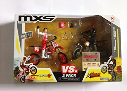 Amazon.com: MXS Motocross 2 pack- VS Ninja Samurai: Toys & Games