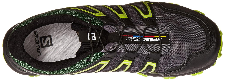Salomon L38115700, Zapatillas de Trail Running para Hombre, Gris (Dark Cloud/Black / Granny Green), 42 2/3 EU: Amazon.es: Zapatos y complementos