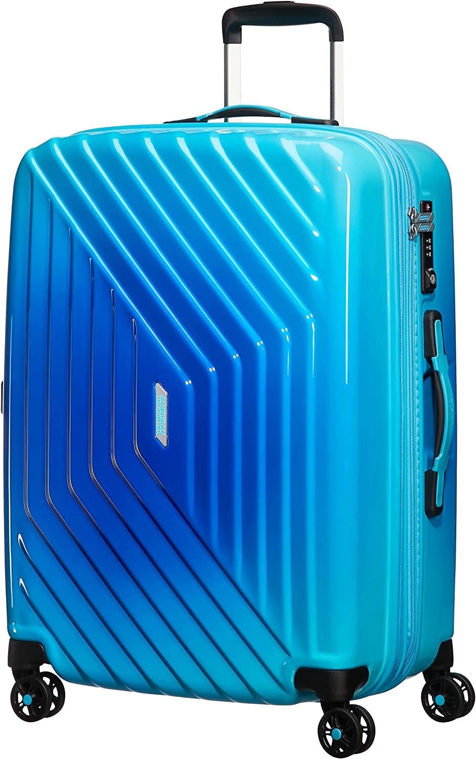 American Tourister Air Force 1 - Maleta, Azul (Gradient Blue), M (66cm-69L)