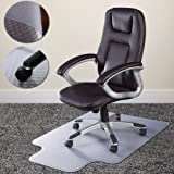 Costway 90 X 120cm PVC Floor Mat Home Office Chair Studded Back with Lip for Standard Pile Carpet