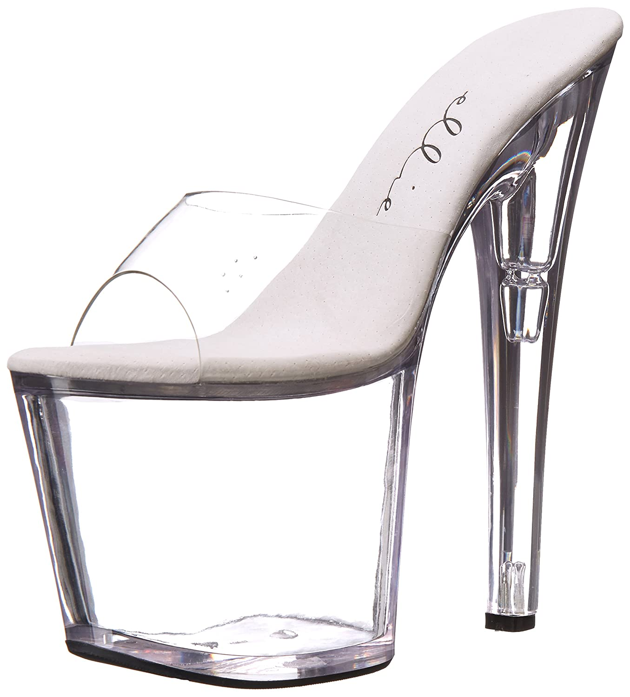 Ellie Shoes Women's 821 Vanity Platform Sandal B00DGQIFH0 11 B(M) US|Clear