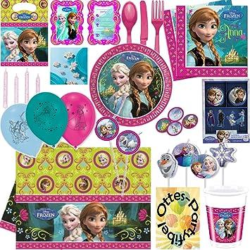 Frozen La Reina De Hielo Maxima De Fiesta De Platos Vasos Y