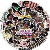 Pop Singer Melanin Poppin Stickers 50PCS for Laptop and Water Bottles,Waterproof Durable Trendy Vinyl Laptop Decal…