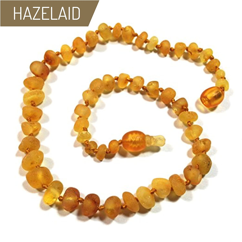 Hazelaid (TM) 12 Pop-Clasp Baltic Amber Caramel Necklace
