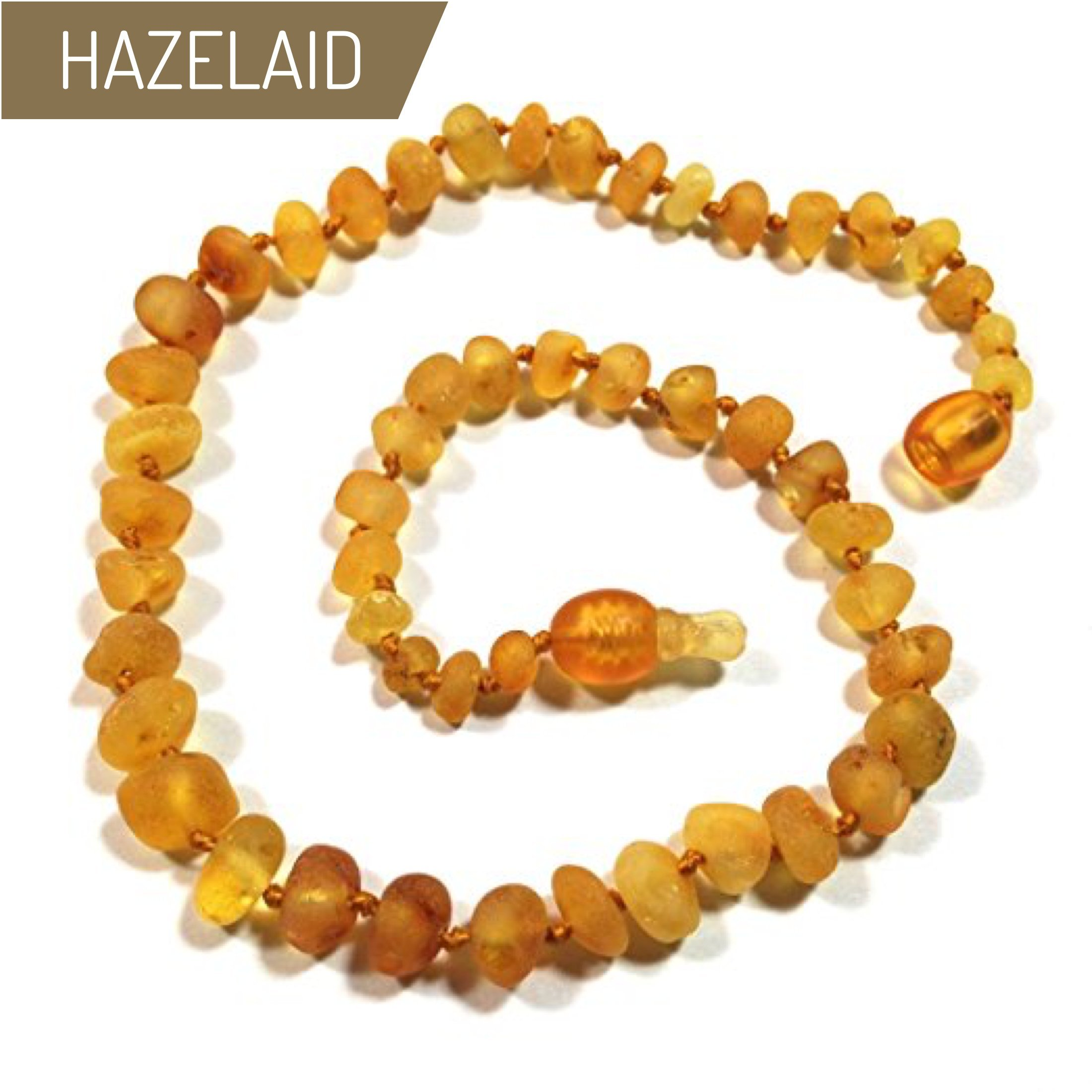 Hazelaid (TM) 12'' Pop-Clasp Baltic Amber Caramel Necklace