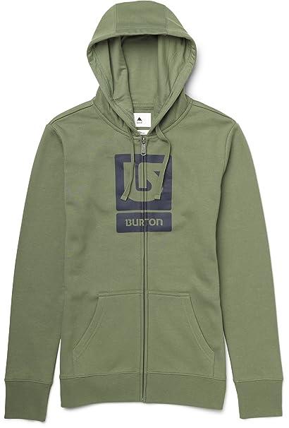 Burton Sudadera Logo Hng High Fullzip Verde Militar XS