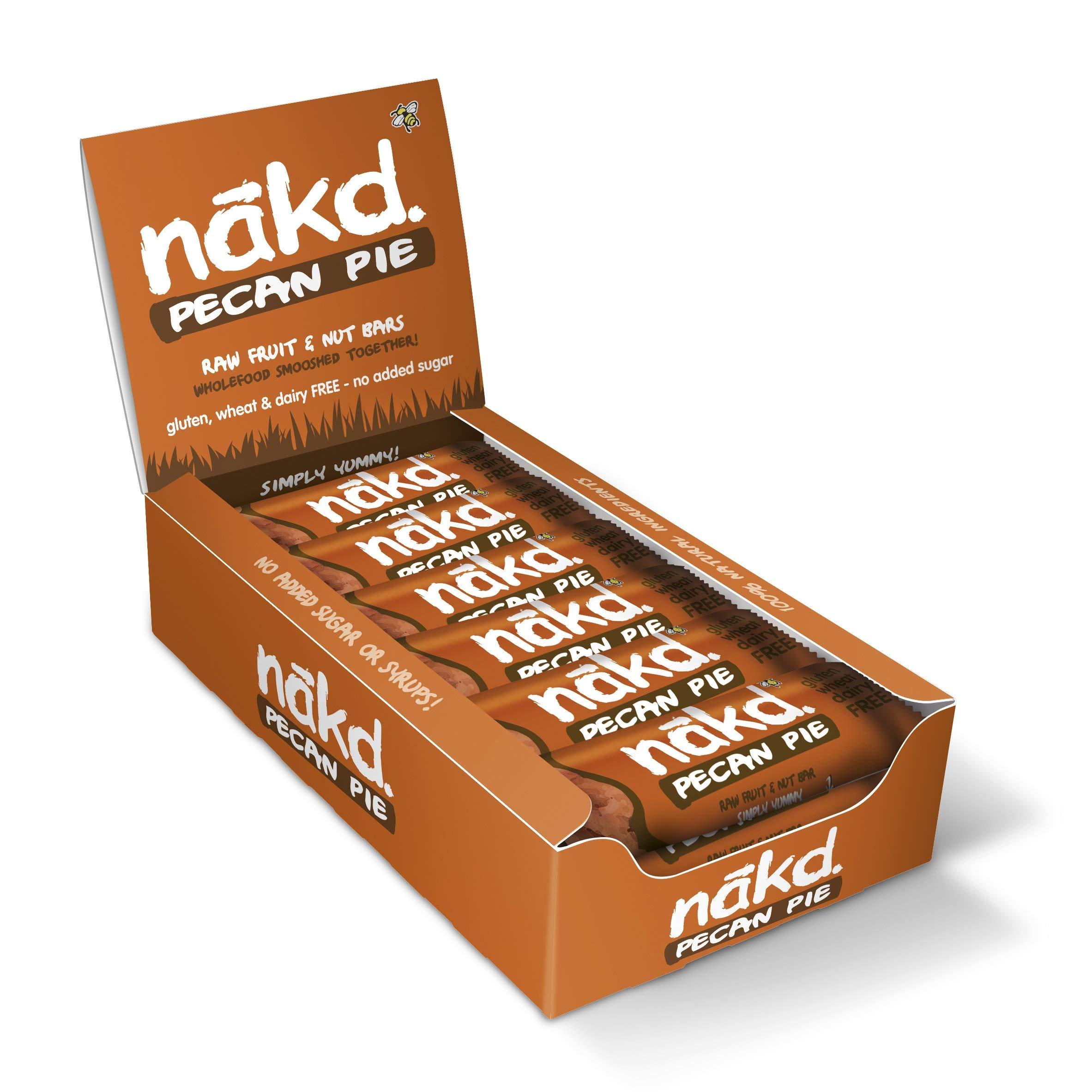 Nakd Pecan Pie Natural Fruit & Nut Bars - Vegan - Gluten Free - Healthy Snack, 35 g (Pack of 18)