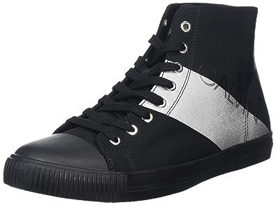 Calvin Klein Antani Nylon/Metal Film, Zapatillas Altas para Hombre: Amazon.es: Zapatos y complementos
