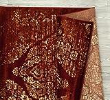Persian-Rugs 4620 Distressed Burgundy Rust 8x10