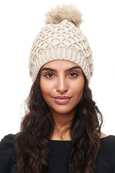 ArizonaShopping - Accessories Damen Mütze Perlen Beanie Strickmütze ...